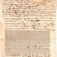 Documentos antigos: CARTA DE PODER PARA PLEITOS. SIGLO XVI. Lote 202558002