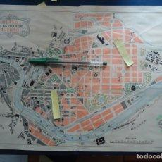 Documentos antiguos: MAPA PLANO VILLA BILBAO VIZCAYA PAIS VASCO EUSKADI VILLA BILBAINA RIO NERVION CASCO VIEJO BOCHO. Lote 202563193