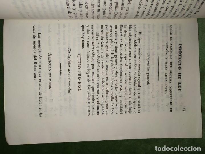1834. 2 PROYECTOS DE LEY SOBRE EL SISTEMA MONETARIO. CONDE DE TORENO. (Coleccionismo - Documentos - Otros documentos)
