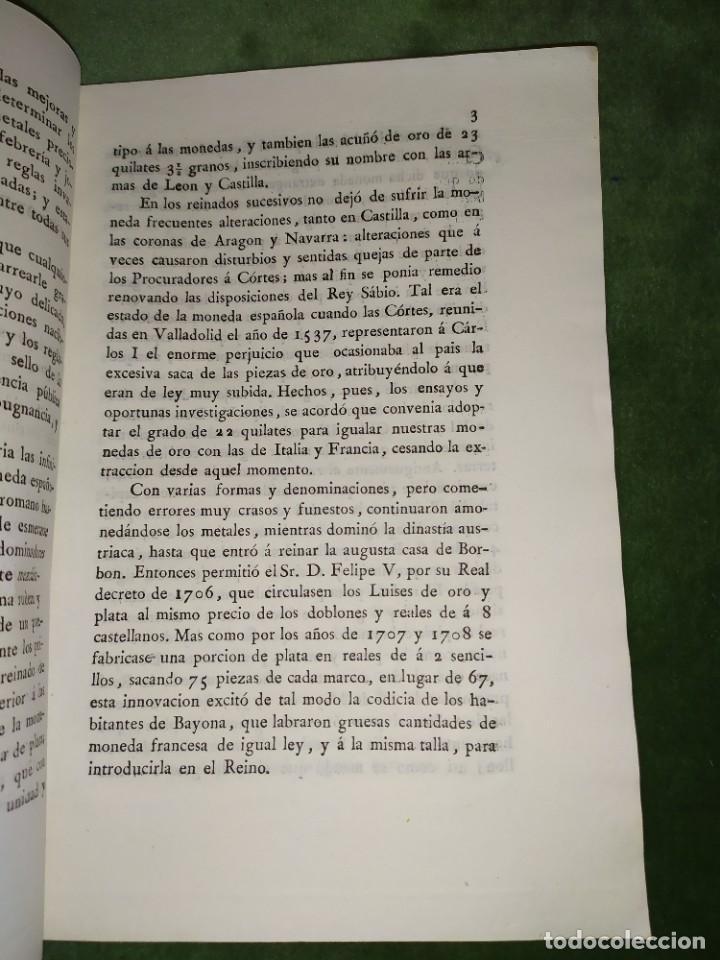 Documentos antiguos: 1834. 2 Proyectos de Ley sobre el Sistema Monetario. Conde de Toreno. - Foto 5 - 203049992