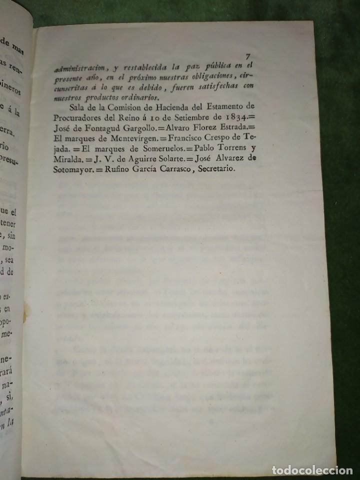Documentos antiguos: 1834. Dictamen de la Comisión de Hacienda. - Foto 3 - 203051827
