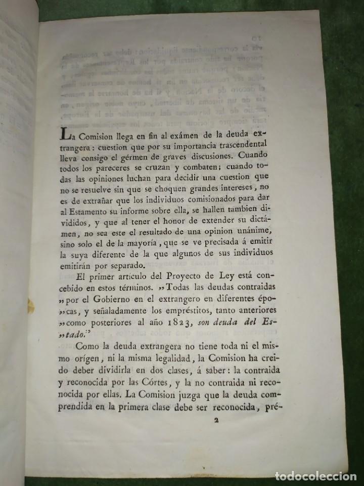 Documentos antiguos: 1834. Dictamen de la Comisión de Hacienda. - Foto 4 - 203051827