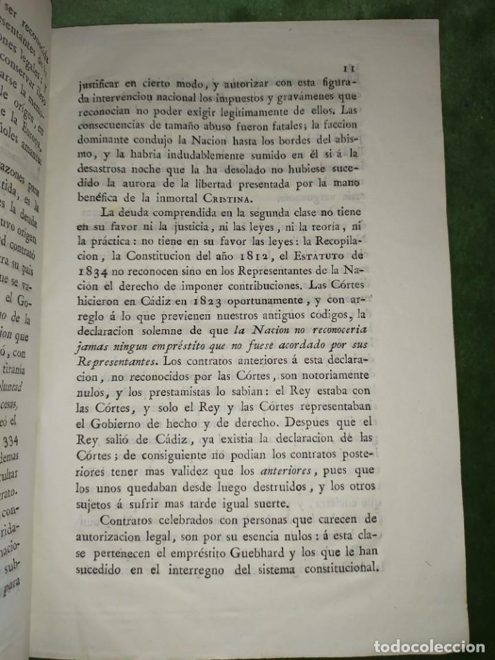 Documentos antiguos: 1834. Dictamen de la Comisión de Hacienda. - Foto 5 - 203051827