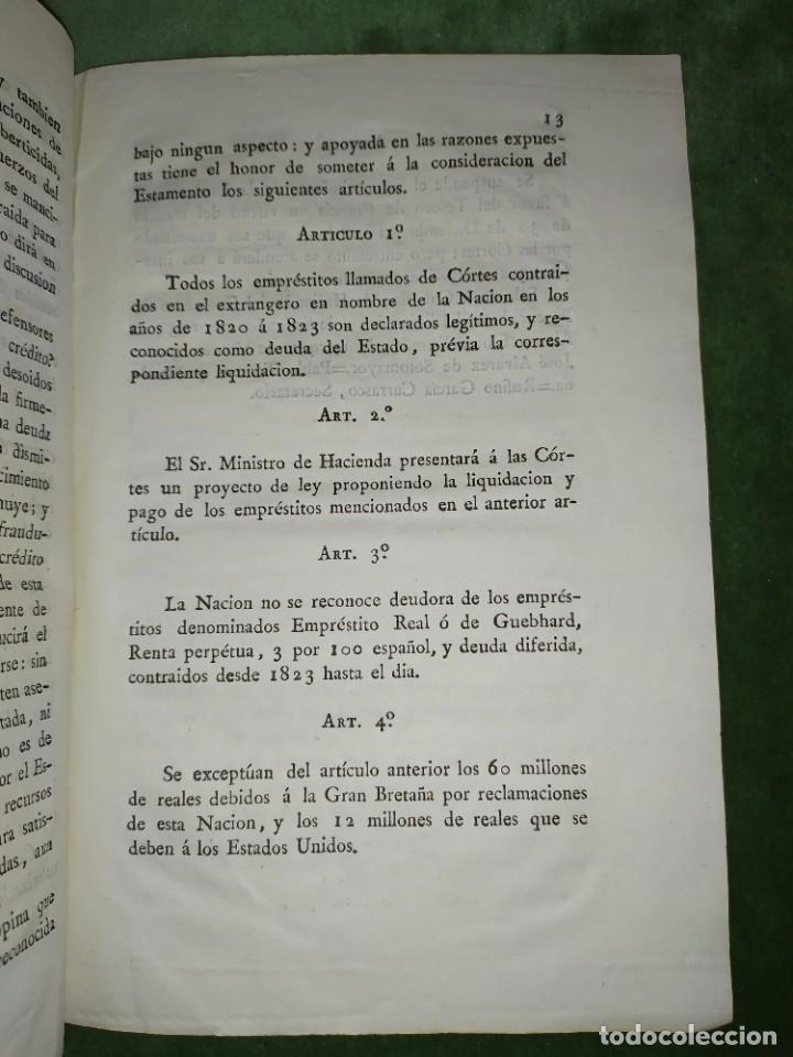Documentos antiguos: 1834. Dictamen de la Comisión de Hacienda. - Foto 6 - 203051827