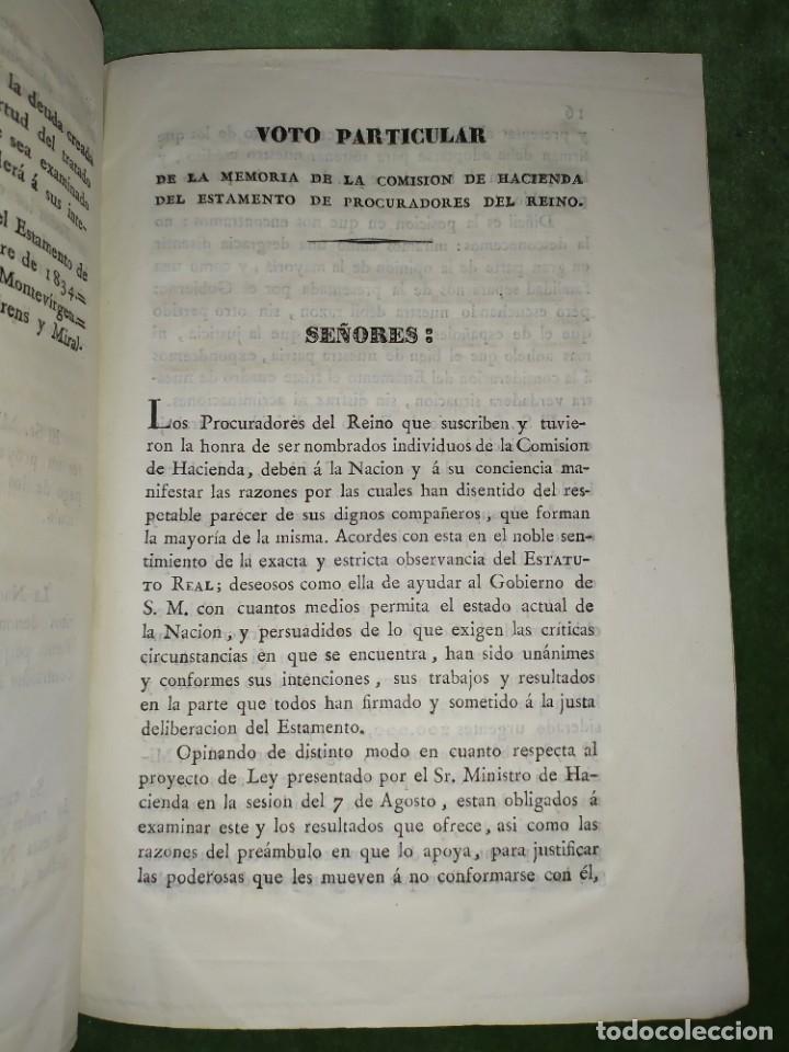 Documentos antiguos: 1834. Dictamen de la Comisión de Hacienda. - Foto 7 - 203051827