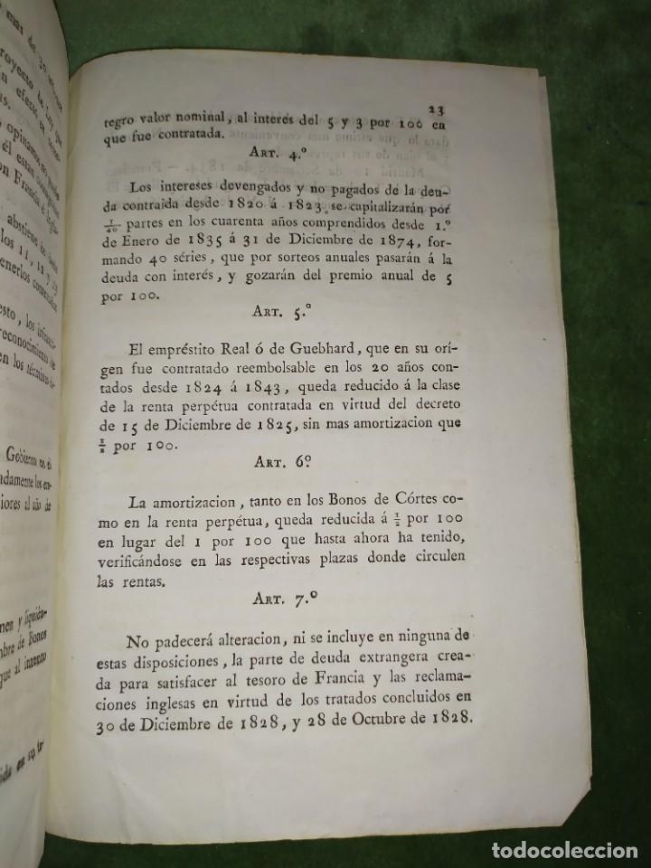 Documentos antiguos: 1834. Dictamen de la Comisión de Hacienda. - Foto 8 - 203051827