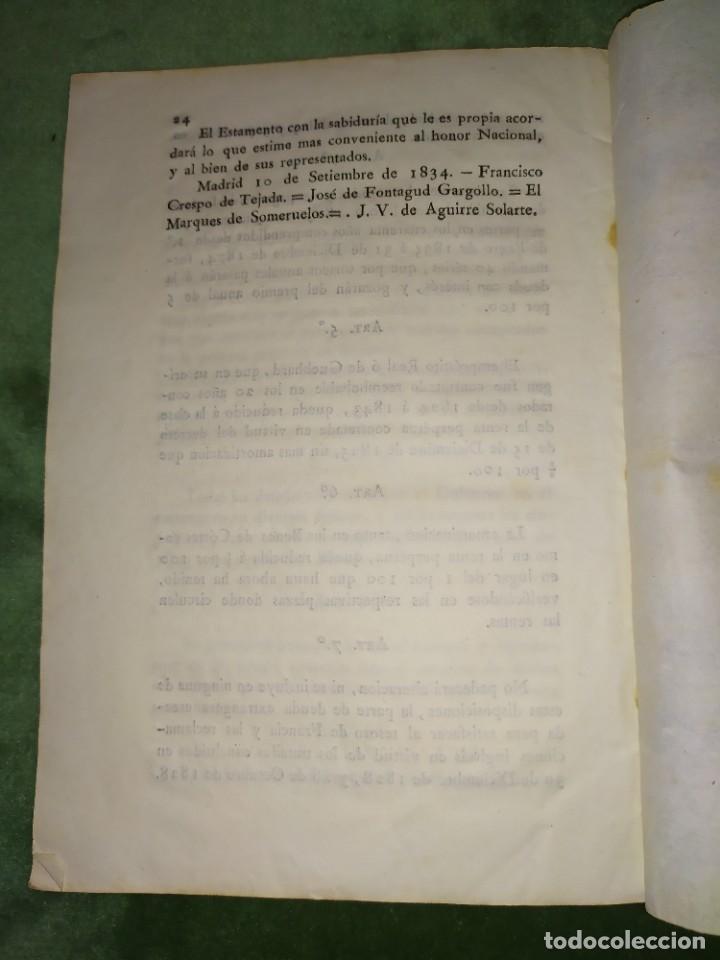 Documentos antiguos: 1834. Dictamen de la Comisión de Hacienda. - Foto 9 - 203051827