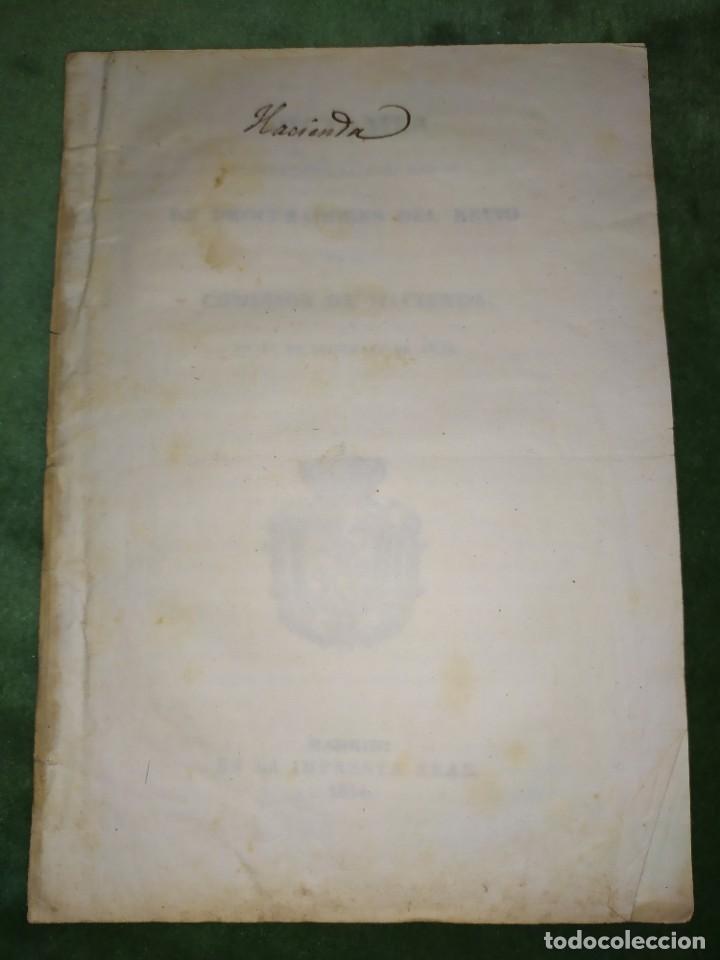 Documentos antiguos: 1834. Dictamen de la Comisión de Hacienda. - Foto 11 - 203051827