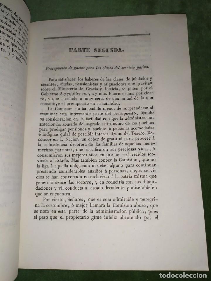 Documentos antiguos: 1834. Presupuesto de gastos clases de activos Ministerio de Gracia y Justicia de España. - Foto 3 - 203052475