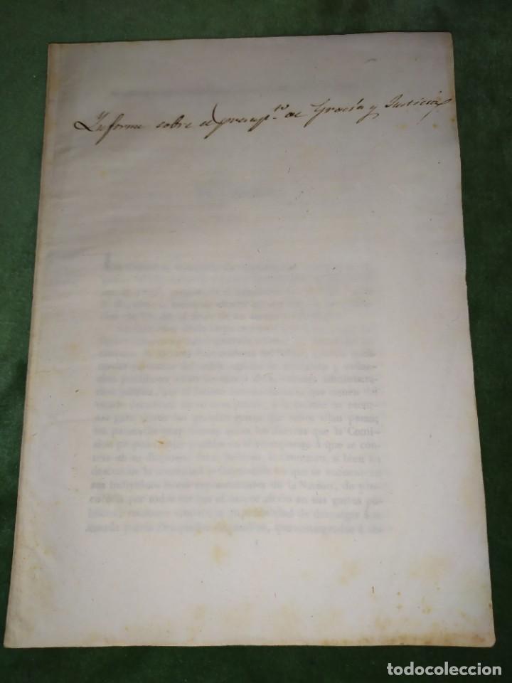 Documentos antiguos: 1834. Presupuesto de gastos clases de activos Ministerio de Gracia y Justicia de España. - Foto 7 - 203052475