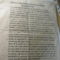 Documentos antiguos: INTERESANTE DOCUMENTO SINDICAT TREBALLADORS GRANOLLERS COMARCA RAJOLERS CONDICIONES DE TRABAJO 1931. Lote 203064645