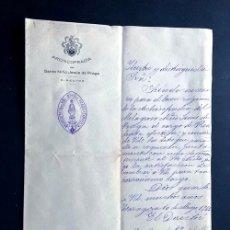Documentos antiguos: ZARAGOZA 1922/ ARCHICOFRADIA DEL NIÑO JESUS DE PRAGA / NOMBRAMIENTO DE PRESIDENTA. Lote 203626565