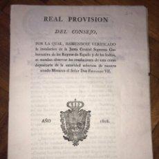 Documentos antiguos: 1808 OFICIOS 3 HABILITACIONES EN EL AÑO. GUERRA INDEPENDENCIA. PROVISION JUNTA CENTRAL SUPREMA.. Lote 204241516