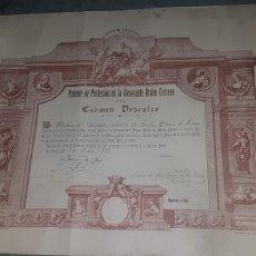 Documentos antiguos: DIPLOMA PATENTE DE PROFESIÓN EN LA VENERABLE ORDEN TERCERA DEL CARMEN DESCALZO 1935 DE VALLADOLID. Lote 204325140