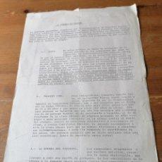 Documentos antiguos: PANFLETO POLÍTICO. LA COMISIÓN ARAGONESA PRO ALTERNATIVA DEMOCRÁTICA. Lote 204384157