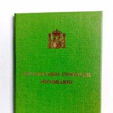 Documentos antiguos: DOCUMENTO IDENTIDAD (TAPA DURA) ESPOSA VICE CONSUL HONORARIO DE FILIPINAS EN BARCELONA (DESCR. Lote 204646541
