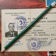 Documentos antiguos: SEVILLA, 1961, CARNET INSPECTOR EMPRESA TRANSPORTES LOS AMARILLOS. Lote 204653171