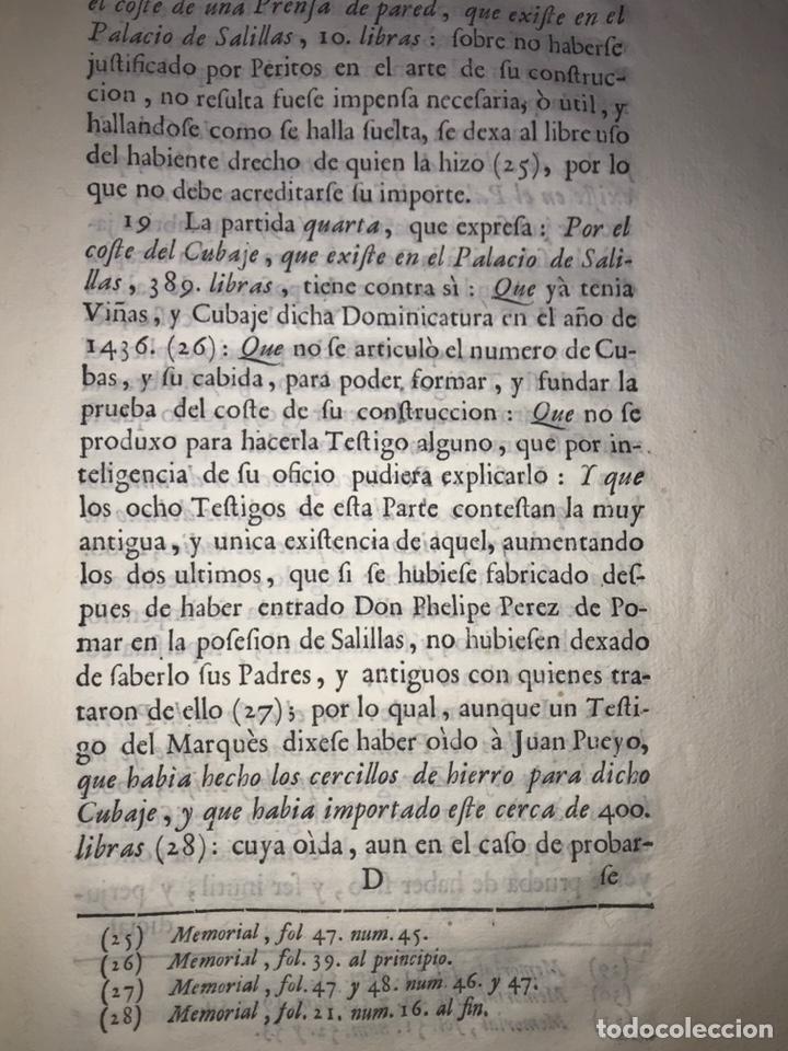 Documentos antiguos: SALILLAS, HUESCA 1770. MARQUÉS DE ARIÑO CONTRA LÓPEZ DE HEREDIA. CONSTRUCCIÓN PALACIO, RETABLO MAYOR - Foto 4 - 204650451