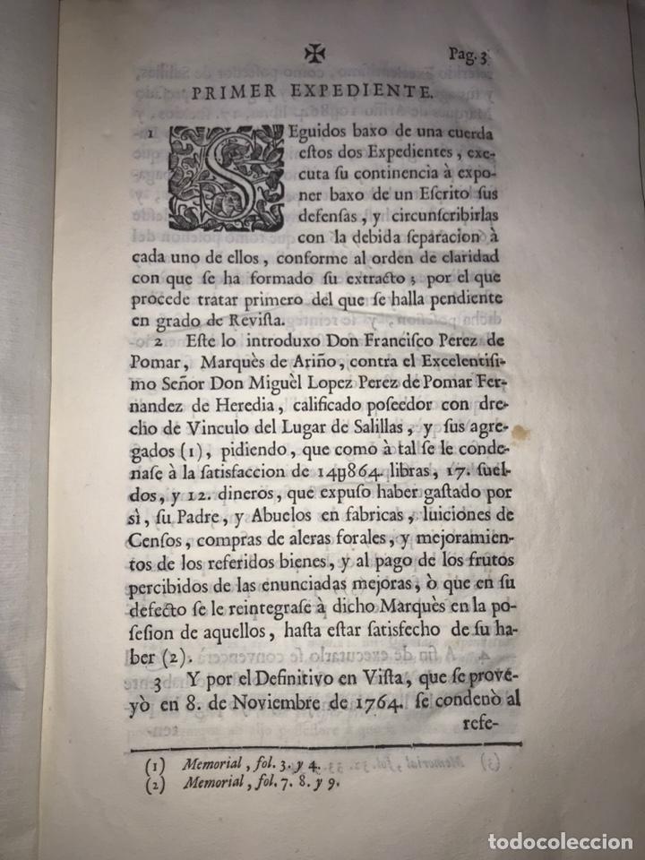 SALILLAS, HUESCA 1770. MARQUÉS DE ARIÑO CONTRA LÓPEZ DE HEREDIA. CONSTRUCCIÓN PALACIO, RETABLO MAYOR (Coleccionismo - Documentos - Otros documentos)