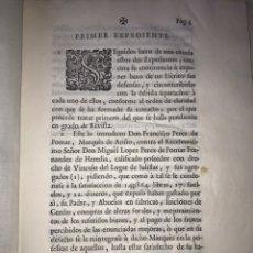 Documentos antiguos: SALILLAS, HUESCA 1770. MARQUÉS DE ARIÑO CONTRA LÓPEZ DE HEREDIA. CONSTRUCCIÓN PALACIO, RETABLO MAYOR. Lote 204650451