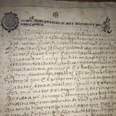 Documentos antiguos: SELLO SEGUNDO 1637 Y DOS DE 1644. REAL MERCED, PRIVILEGIOS REALES OSONILLA, SORIA. ESPADA DEL CID.. Lote 204656318