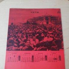 Documentos antiguos: PANFLETO POLÍTICO: CALENDARIO MCE. 1976.. Lote 204684023