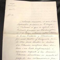 Documentos antiguos: MINISTERIO DE ESTADO. NOMBRAMIENTO SECRETARIO A LUIS VALERA MARQUES DE VILLASINDA SAN SEBASTIAN 1903. Lote 205005603