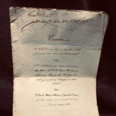 Documentos antiguos: ESCRITURA VENTA CASA CARABANCHEL BAJO 1864 S XIX BARON HORTEGA CONSUL PORTUGAL EN CORTE MADRID. Lote 205260116