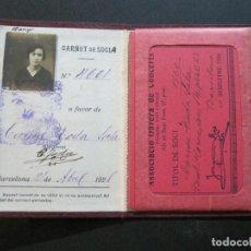 Documentos antiguos: BARCELONA-CARNET ASSOCIACIO OBRERA DE CONCERTS-ANY 1921-VER FOTOS-(V-20.202). Lote 205318042