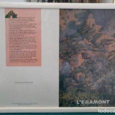 Documentos antiguos: CARTA RESTAURANTE L'ERAMONT ENMARCADA CON CRISTAL ARAMUNT -PALLARS (LLEIDA). Lote 205367576