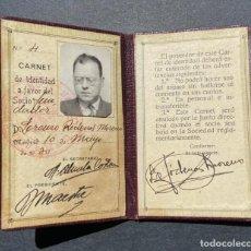 Documentos antiguos: MURCIA.- CARNET CASA REGIONAL MURCIANA. 1930.. Lote 205382738