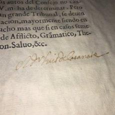 Documentos antiguos: C. 1620. FIRMA CASANATE. ABAD DE SAN JUAN Y PRIOR SAN PABLO DE BURGOS CON EL FISCAL ARZOBISPO BURGOS. Lote 205661340