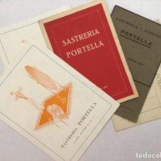 Documentos antiguos: DIPTICOS Y TARJETA PUBLICITARIAS SATRERIA PORTELLA. MANRESA AÑOS 1920, 1921, 1927, 1928.. Lote 205674335