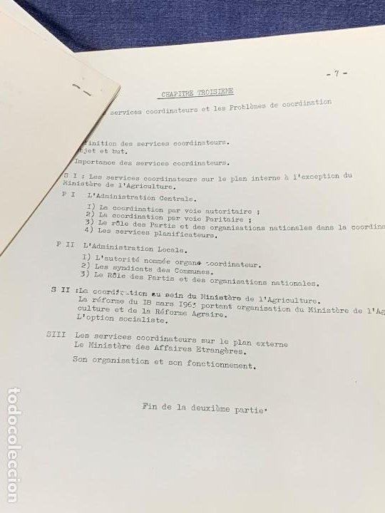 Documentos antiguos: estudio frances admnistracion publica en paises norte africa plan general años 60 estudio politico - Foto 2 - 205732715