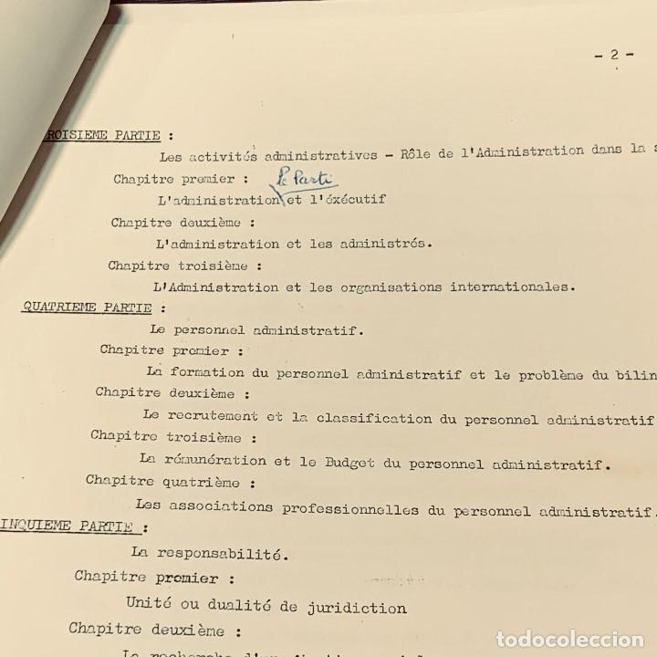 Documentos antiguos: estudio frances admnistracion publica en paises norte africa plan general años 60 estudio politico - Foto 5 - 205732715