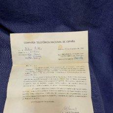 Documentos antiguos: COMPAÑIA TELEFONICA NACIONAL DE ESPAÑA 1968 MODIFICACION NUMERACIONES COSTA SOL CENTRALES AFECTADAS. Lote 205741431