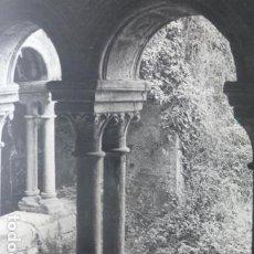 Documentos antiguos: SAN ESTEBAN DE RIBAS DE SIL ORENSE RUINAS ANTIGUA LAMINA HUECOGRABADO AÑOS 50. Lote 205758555
