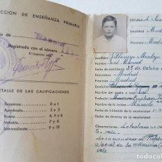 Documentos antiguos: CARTILLA DE ESCOLARIDAD FRANQUISTA MINISTERIO NACIONAL DE EDUCACION 1945 MADRID. Lote 205775833