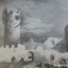 Documentos antiguos: CASTROTORAFE ZAMORA CASTILLO ANTIGUA LAMINA HUECOGRABADO AÑOS 40. Lote 205810026
