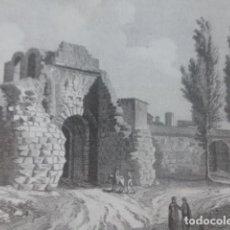 Documentos antiguos: LERIDA PUERTA DE LOS BOTES ANTIGUA LAMINA HUECOGRABADO AÑOS 40. Lote 205817157
