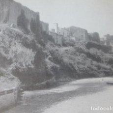 Documentos antiguos: SAN VICENTE DE LA BARQUERA CANTABRIA CASTILLO ANTIGUA LAMINA HUECOGRABADO AÑOS 40. Lote 205820120
