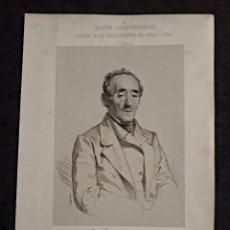 Documentos antiguos: JOSÉ MA. SUANZES, FERROL, CORUÑA. CORTES CONSTITUYENTES. GALERÍA DE REPRESENTANTES, 1854 SERIGRAFÍA. Lote 206294581