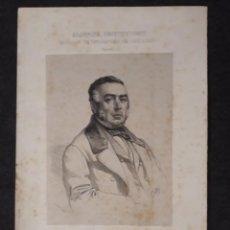 Documentos antiguos: JOSÉ MARIA ORENSE, PALENCIA. CORTES CONSTITUYENTES. GALERÍA DE REPRESENTANTES, 1854 SERIGRAFÍA. Lote 206295020