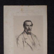 Documentos antiguos: MODESTO LAFUENTE, PALENCIA, LEON. CORTES CONSTITUYENTES. GALERÍA DE REPRESENTANTES, 1854 SERIGRAFÍA. Lote 206295111