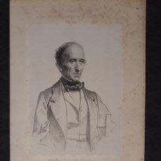 Documentos antiguos: IGNACIO DE OLEA, VIZCAYA, DIMA. CORTES CONSTITUYENTES. GALERÍA DE REPRESENTANTES, 1854 SERIGRAFÍA. Lote 206295157
