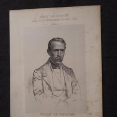 Documentos antiguos: JULIÁN DE HUELBES, OCAÑA, TOLEDO. CORTES CONSTITUYENTES. GALERÍA DE REPRESENTANTES, 1854 SERIGRAFÍA. Lote 206295317