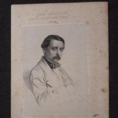 Documentos antiguos: PEDRO CALVO ASENCIO, VALLADOLID. CORTES CONSTITUYENTES. GALERÍA DE REPRESENTANTES, 1854 SERIGRAFÍA. Lote 206295380