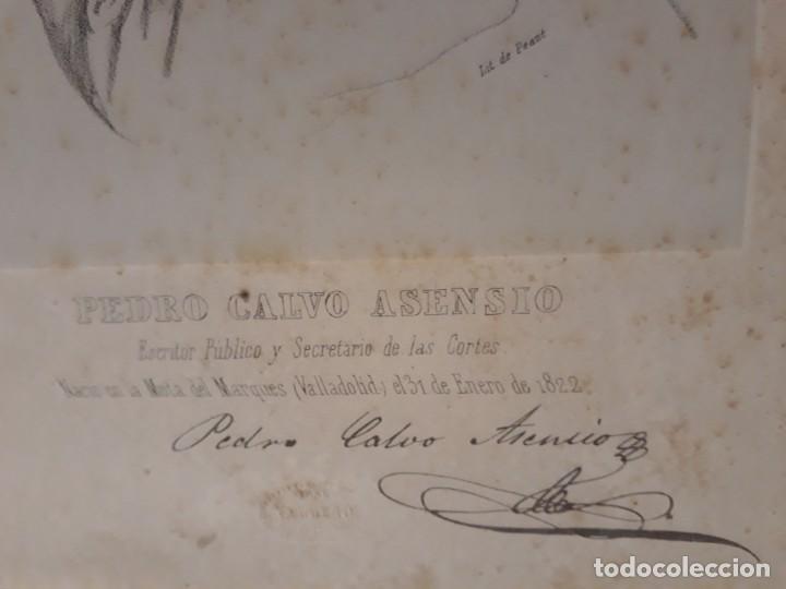 Documentos antiguos: Pedro Calvo Asencio, Valladolid. CORTES CONSTITUYENTES. GALERÍA DE REPRESENTANTES, 1854 SERIGRAFÍA - Foto 3 - 206295380
