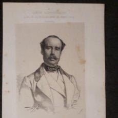 Documentos antiguos: ALEJANDRO CASTRO PONTEVEDRA CORUÑA CORTES CONSTITUYENTES GALERÍA DE REPRESENTANTES 1854 SERIGRAFÍA. Lote 206295503