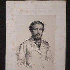 Documentos antiguos: FRANCISCO MONTEMAR CÁCERES SEVILLA. CORTES CONSTITUYENTES GALERÍA DE REPRESENTANTES 1854 SERIGRAFÍA. Lote 206295678